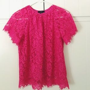 NWT J. Crew Short-sleeve lace top